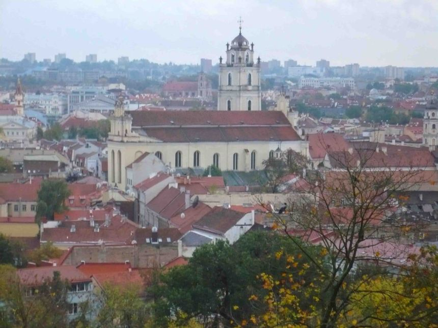 View from Vilnius Castle.
