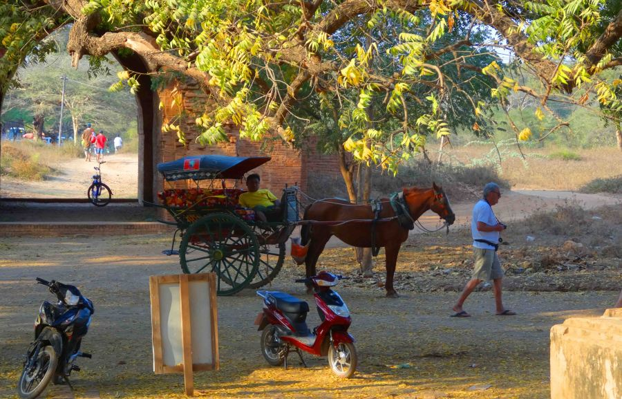Many and varied forms of transport at Bagan!
