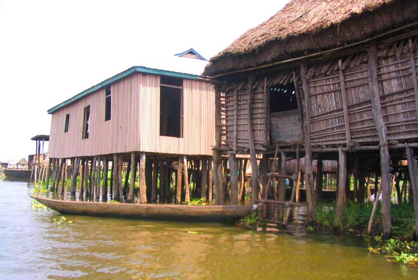 Houses on Lake Ganvie