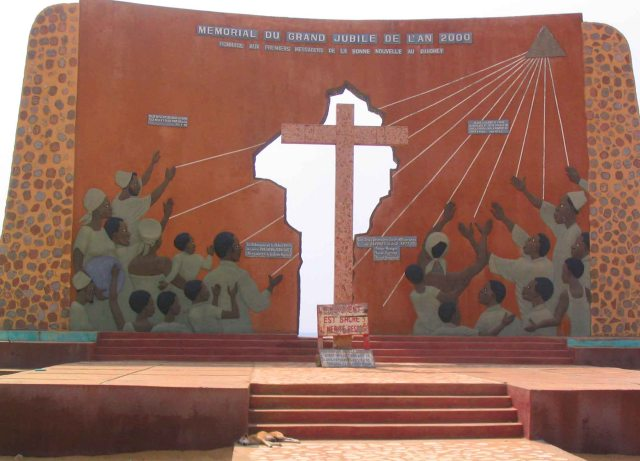 Monument to the slaves on the Beach, Ouidah.