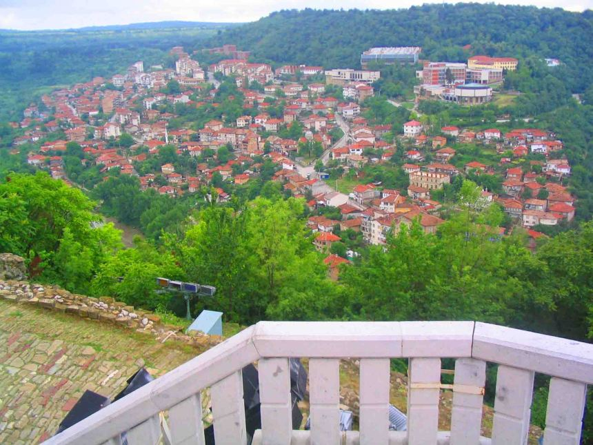 Veliko Tarnovo from the citadel.