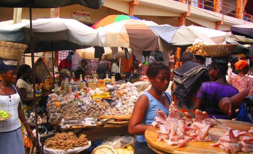 Lome market.