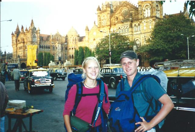 New friends in front of the Victoria Terminus. Sorry - it's all I got!