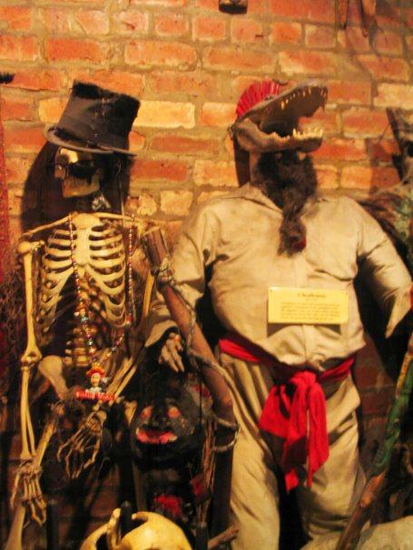 In the Voodoo Museum.