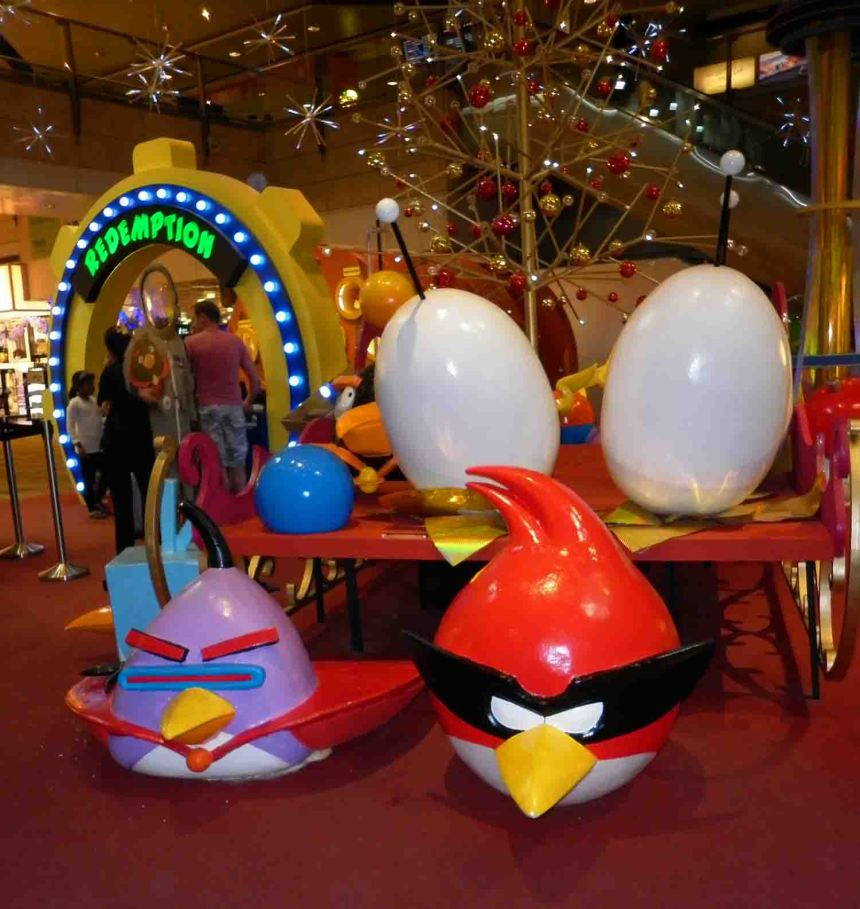 Angry Birds at Changi Airport, Singapore