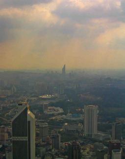 Heavens open on Kuala Lumpur.