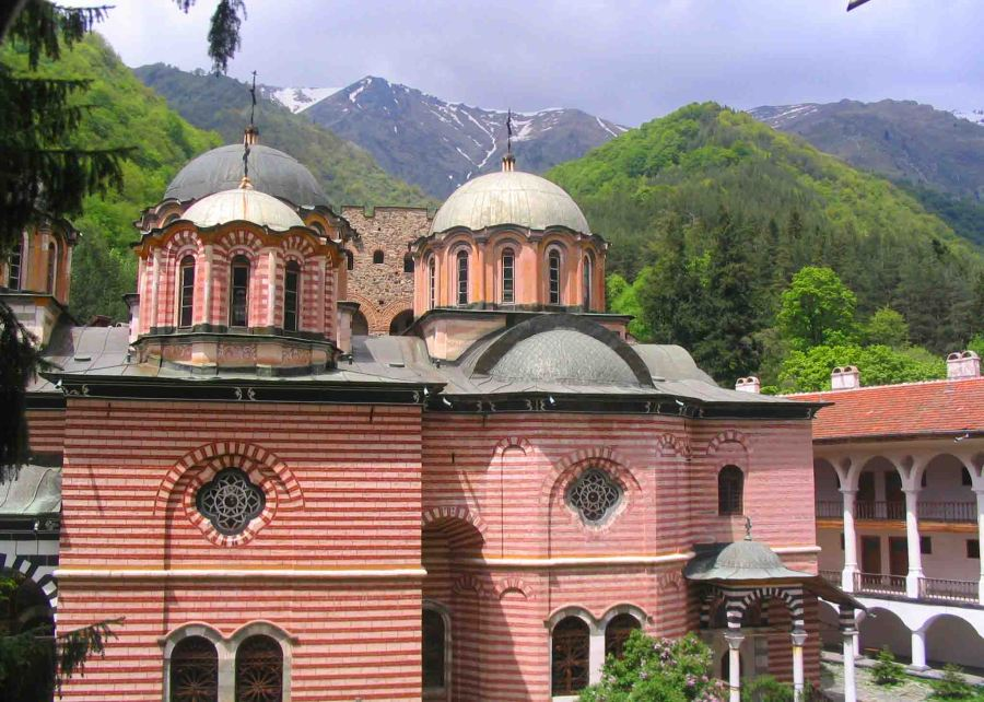 Rila Monastery domes