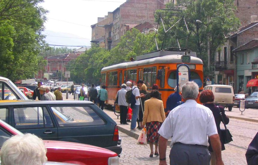 Trams are a great way to get around Sofia