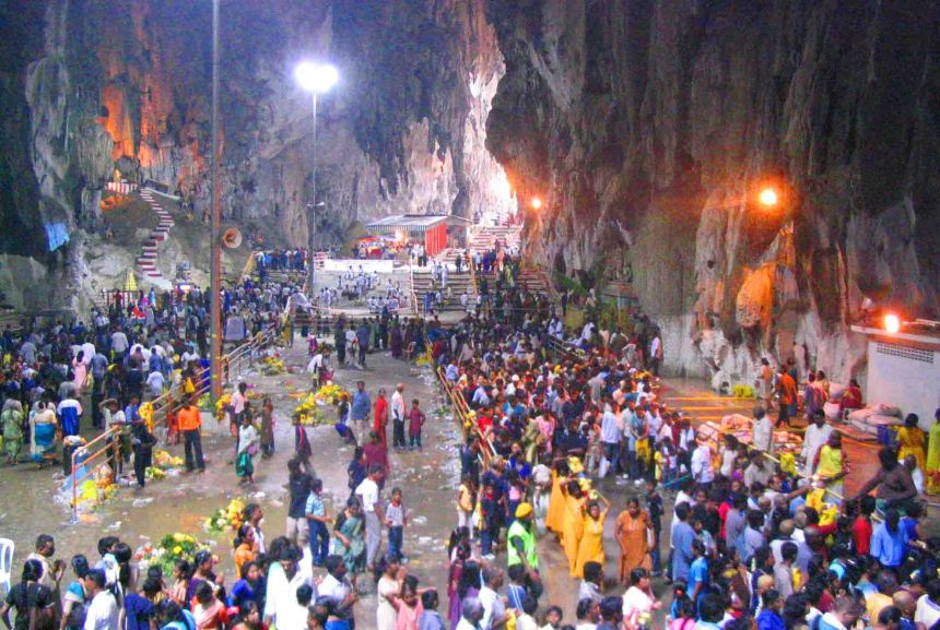 Thaipusam at the Batu Caves near KL.