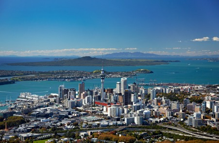 Auckland city, Westhaven Marina and harbour view, Auckland, New Zealand. From iceangels.co.nz