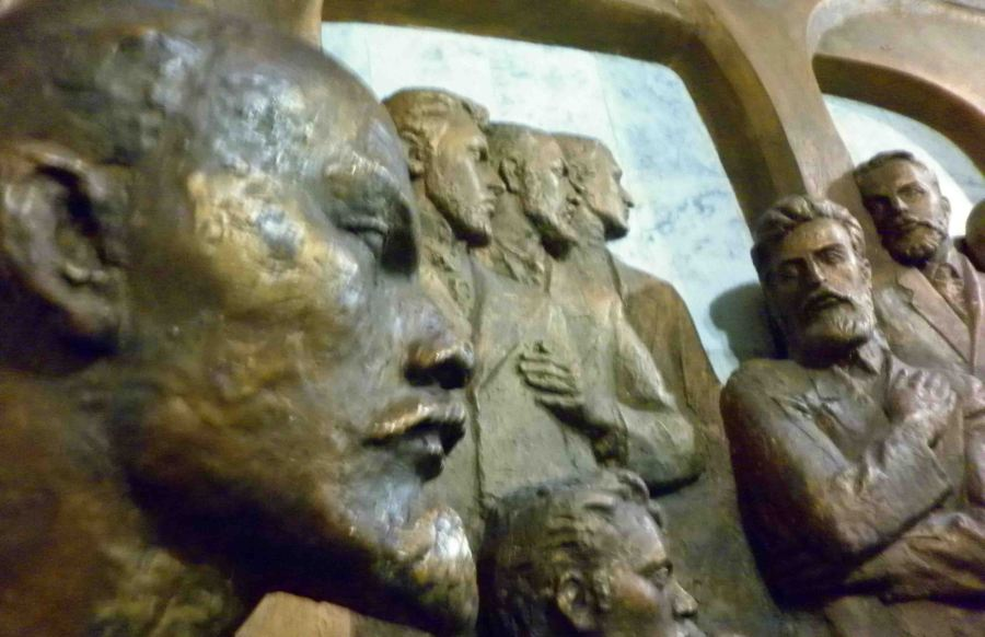 Soviet sculptures in the state museum.