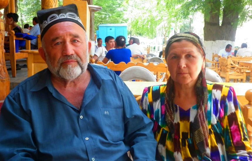 Lovely couple I met in Bukhara,