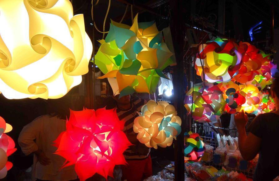 Beautiful light shades at the Night Market