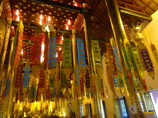 Inside one of Thailand's beautiful temples.