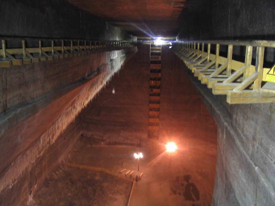 Inside the salt mine.