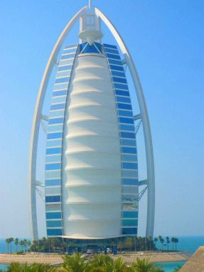Burj-Al-Arab, one of Dubai's most distinctive buildings.