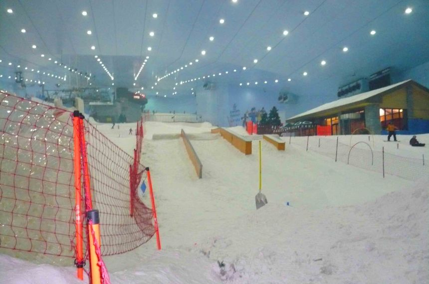Ski Dubai. Yep, inside a mall!
