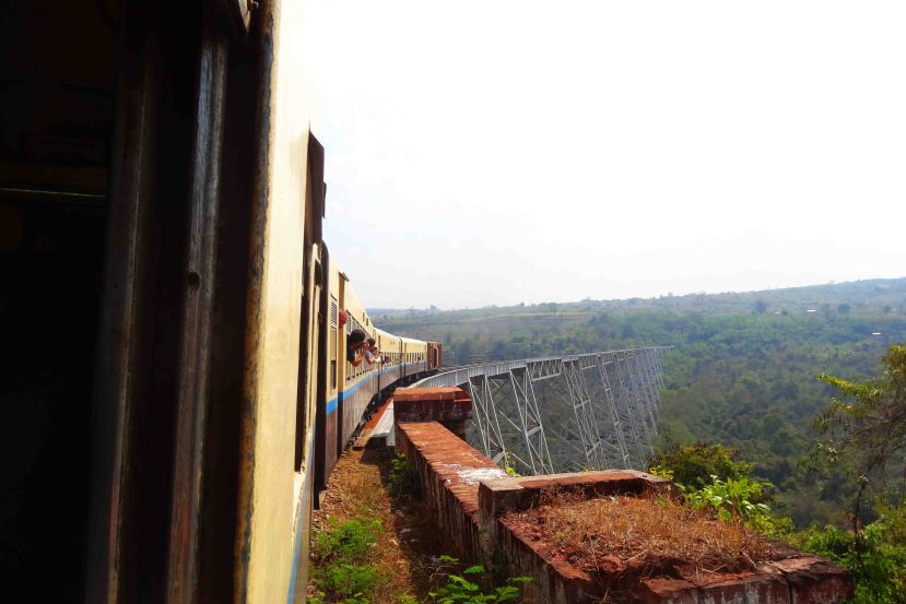 And we made it to the other side of the Gokteik Viaduct in one piece!