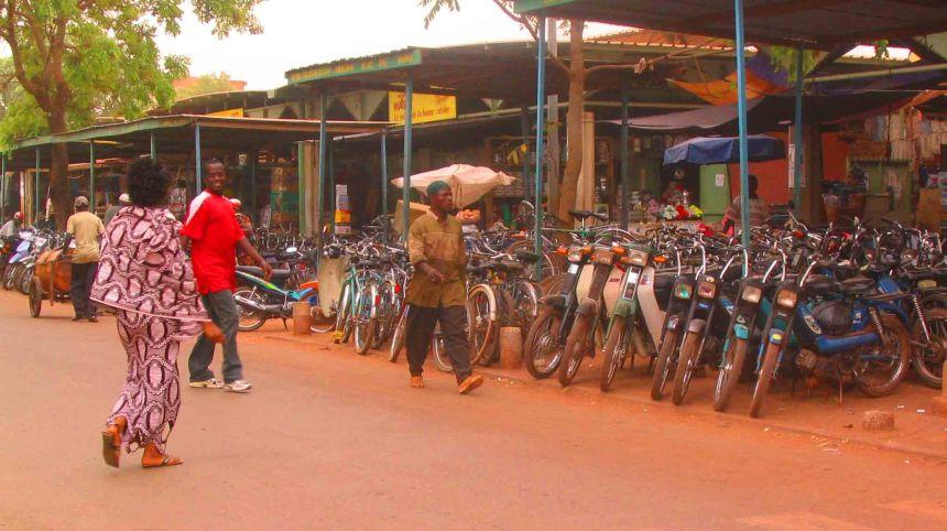 A street in Burkina Faso.
