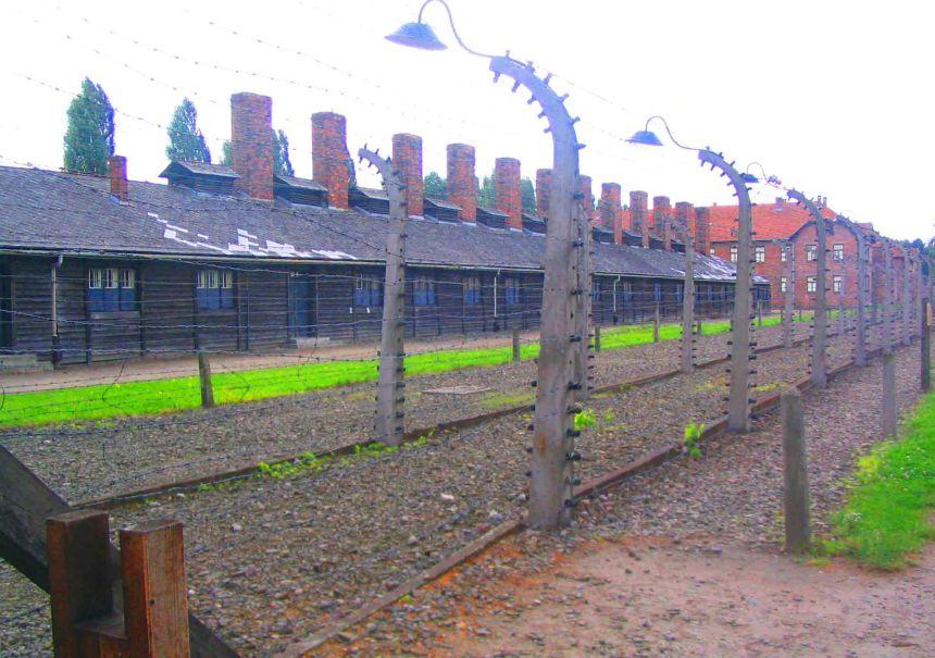 Auschwitz fence.