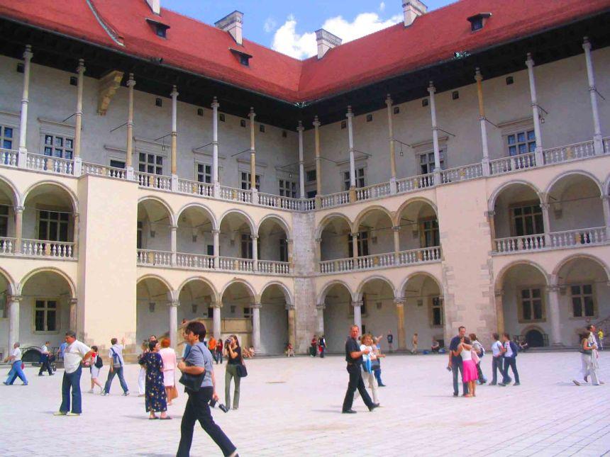 Courtyard in Wawel Castle