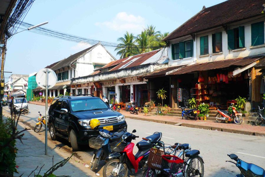 Main street of Luang Prabang.