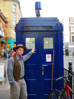 Me and the TARDIS at Earl's Court Station.