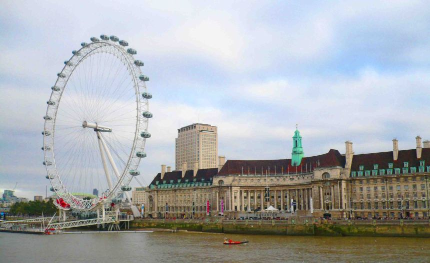 Thames and London Eye.