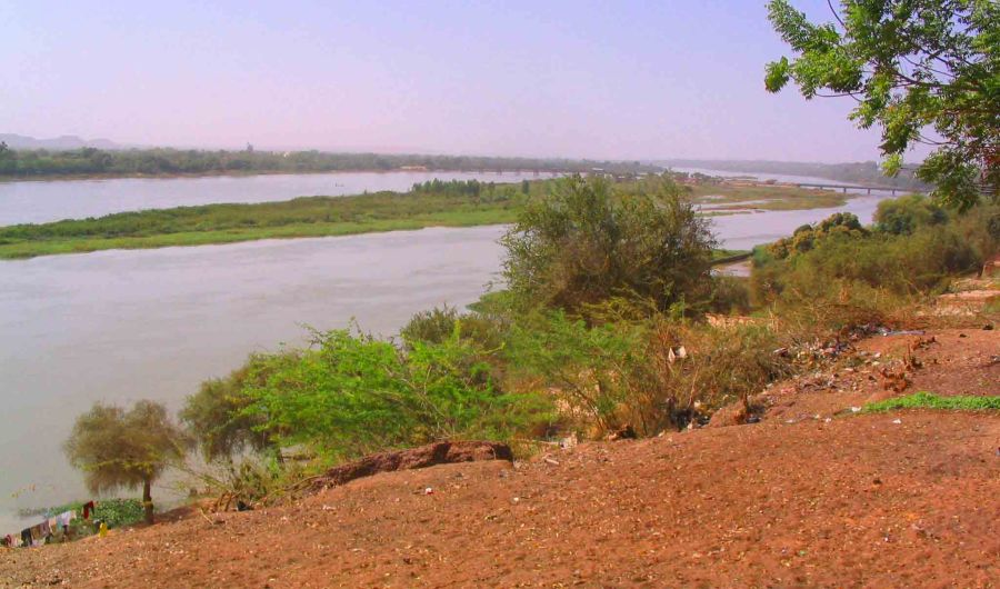 The Niger River in Niamey.