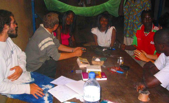 Gang at the hostel I stayed at in Ouagadougou.