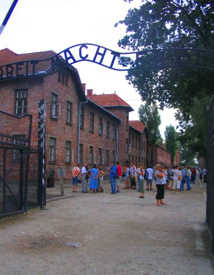 Entrance to Auchwitz.