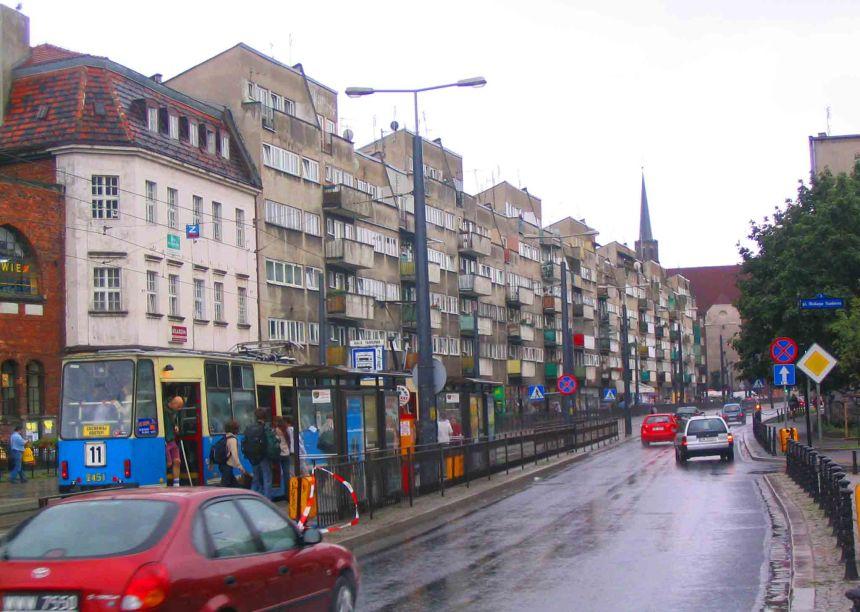 Soggy street in Wroclaw