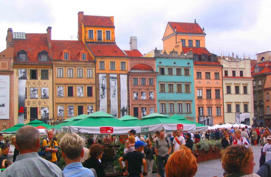 Restored Old Town Square, Warsaw.