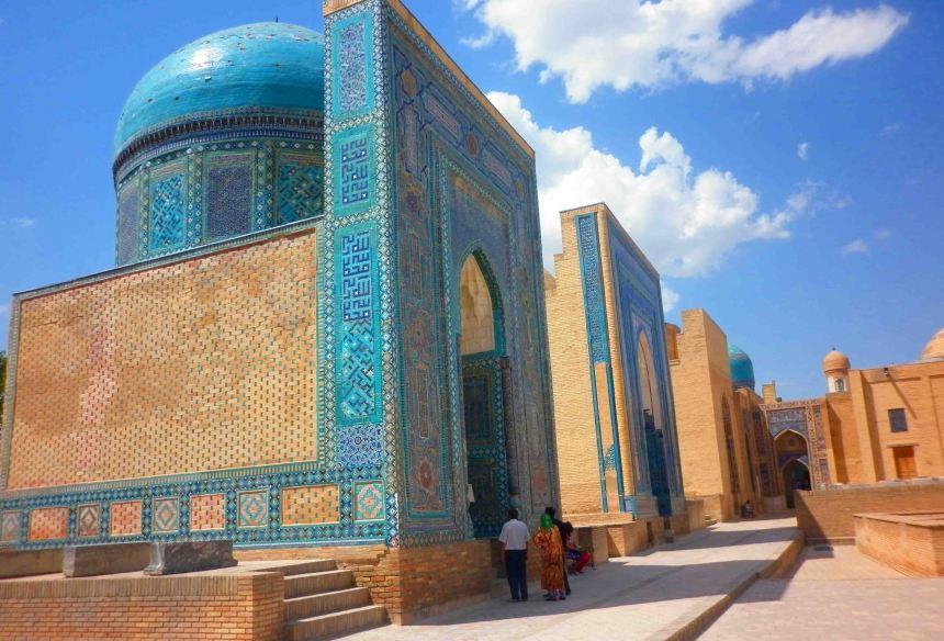 Tombs in a row, Shah-i-Zinda.
