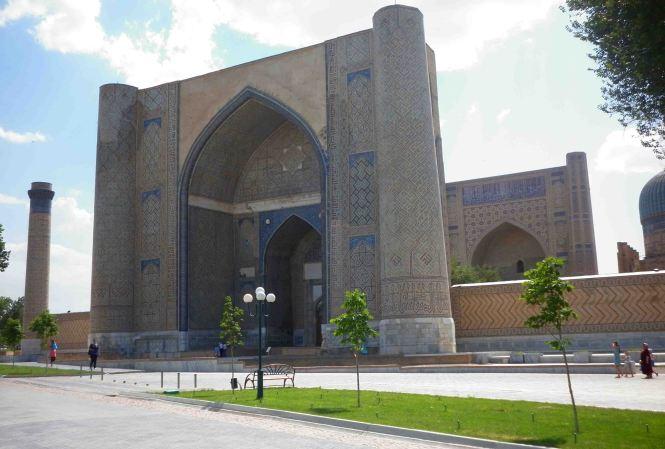 Exterior, Bibi Khanym Mosque.