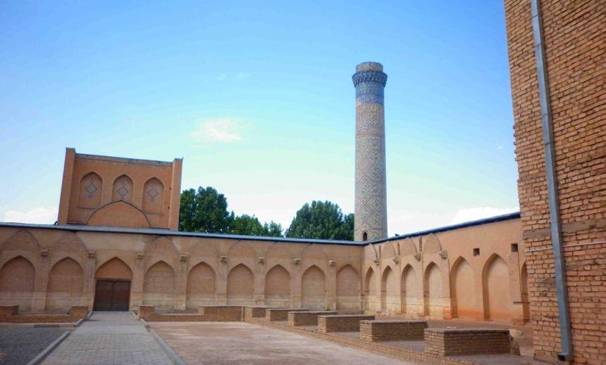 Inside the Bibi Khanym Mosque.