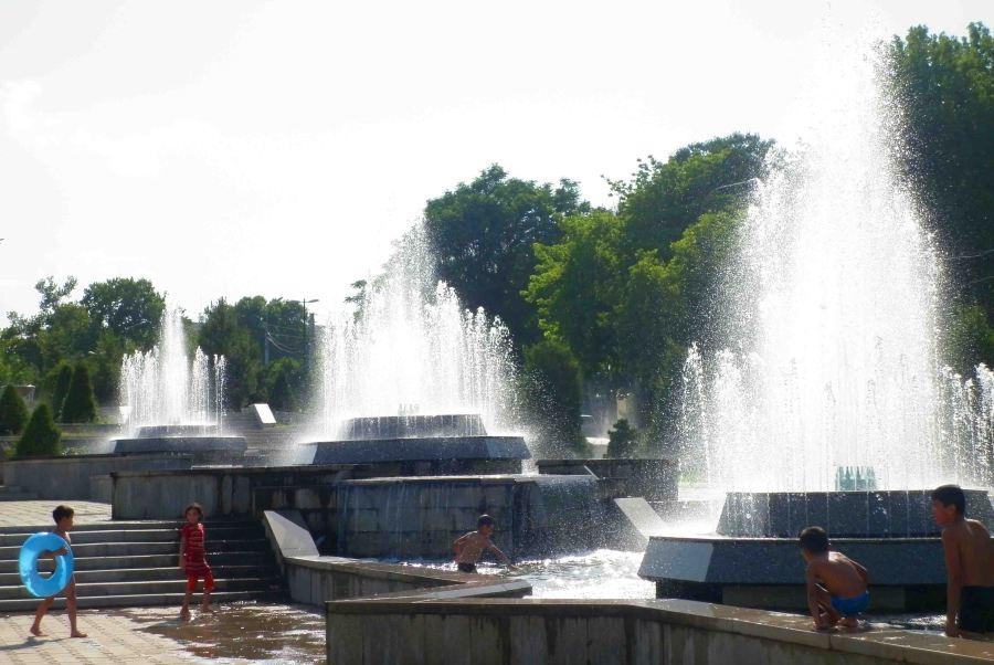 Fountains in Samarkand