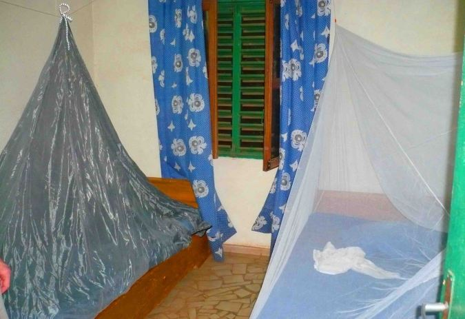 Mozzie nets all set up in Ouhugouyah!
