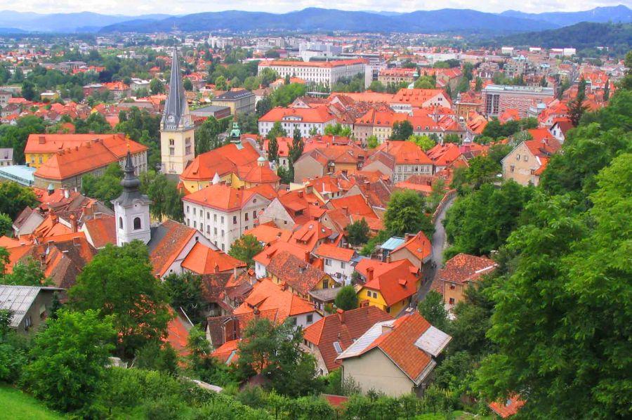 Ljubljana from above.