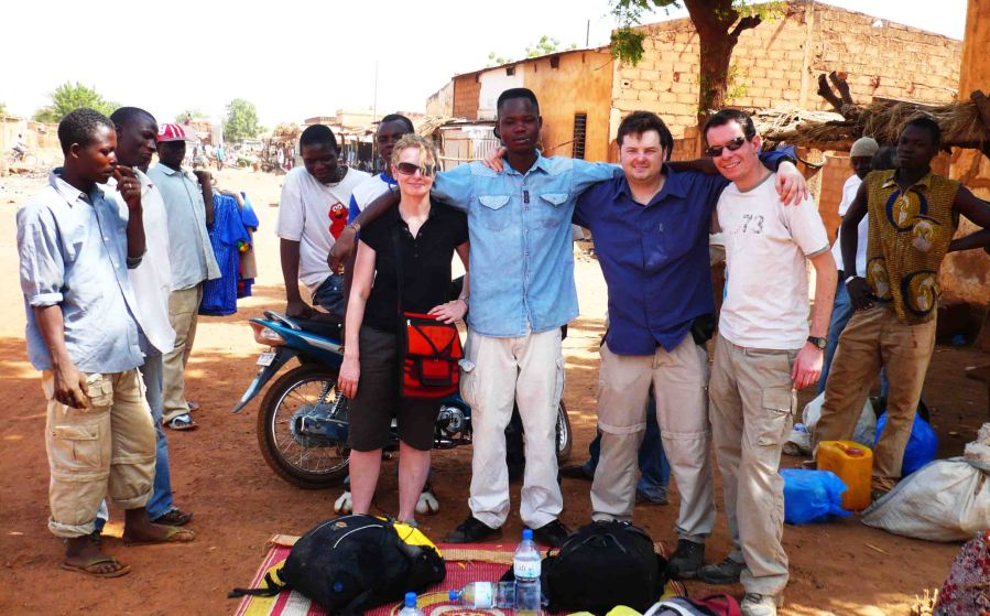 Paul, myself, Catherine from Ireland and our guide after agreements were reached, Ouhigouyah.