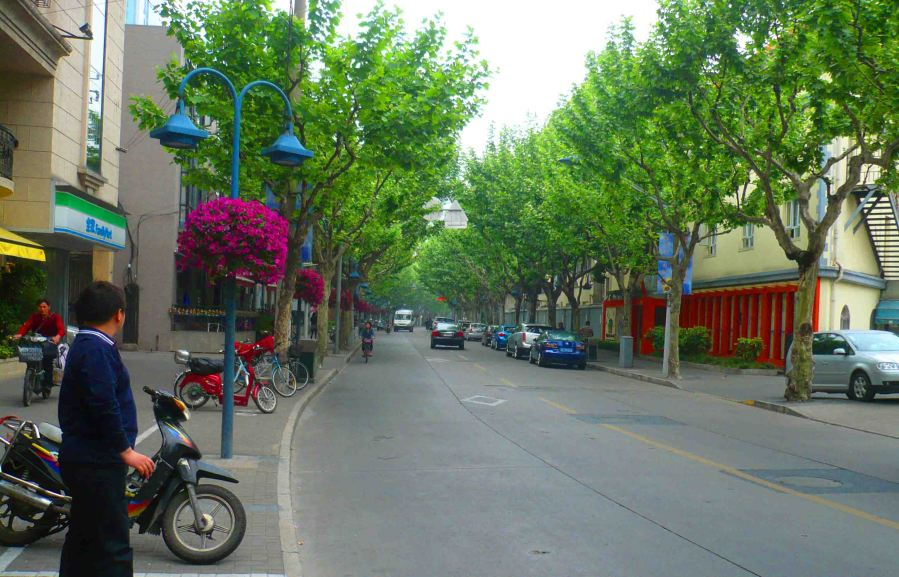 French Concession in Shanghai.