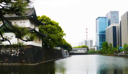 Emperor's Palace in the centre of Tokyo.