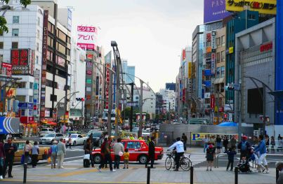 Tokyo street.