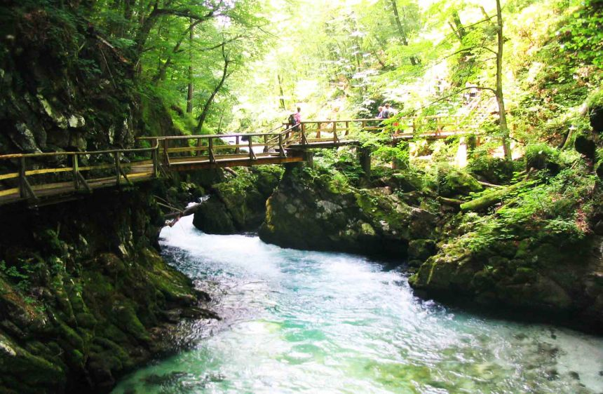Such a stunning place is Vintgar Gorge.