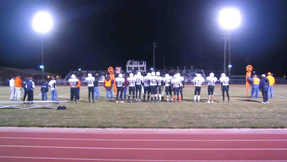 A high school football game in Colorado.
