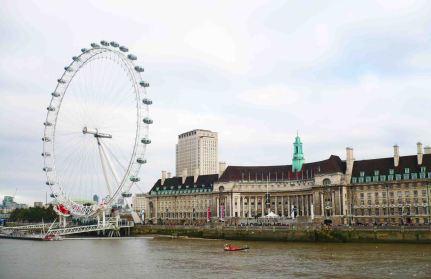 London Eye on the Thames.