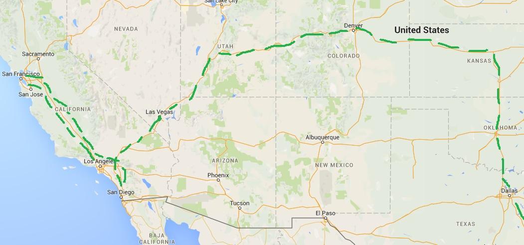 Travel Itineraries USA Part Three Andys World Journeys - Usa map denver colorado