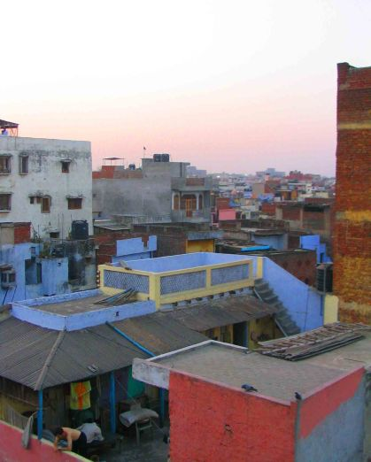 Delhi rooftops on the Paraganj.