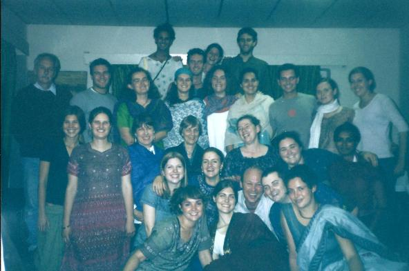 The whole university group on the last night.