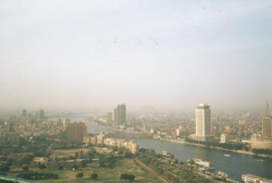 Sunny, smoggy Cairo